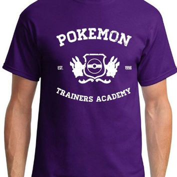 a1dfe647 Pokemon Trainers Academy - Established 1996 - Pokemon Shirt - Ch