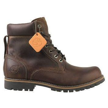 "Timberland Mens 6"" Boots Earthkeepers Plain Toe Brown 74134"