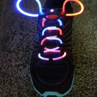 Rainbow multi-color Led fashion Flashing Shoelaces
