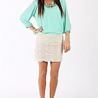 The Kacy Blouse, Mint
