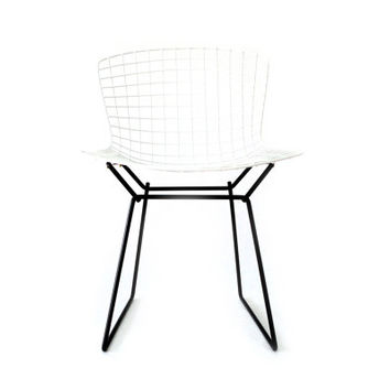 BERTOIA - Classic White on Black - KNOLL Side Chair Restoration by Cast + Crew