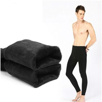 Free Shipping winter  Warm Men plus cashmere leggings Leggings Tight Men Long Johns Plus Size  Warm Underwear Man thermal pants