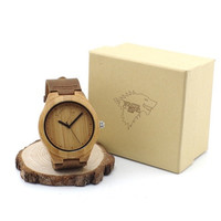 Engraved The Winter Coming Wolf Designer Bamboo Wooden Watches Luxury Brand Quartz Men and Women Genuine Leather Watch Gifts [8833612428]