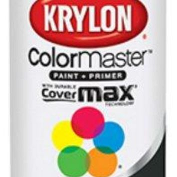 Krylon K05160202 Colormaster™ Spray Enamel Paint & Primer, 12 Oz, Flat Black