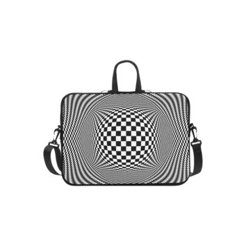 Personalized Laptop Shoulder Bag Optical Illusion Checkers Handbags 11 Inch