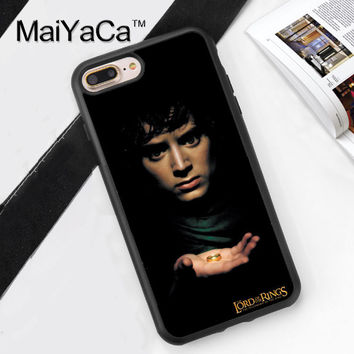 Lord of The Rings Print Soft TPU Skin Mobile Phone Case Funda For iPhone 7 7 Plus 6 6S Plus 5 5S 5C SE 4S Back Cover Skin Shell
