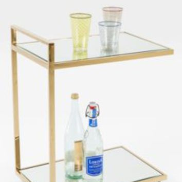 Art Deco Mirrored Drinks Trolley