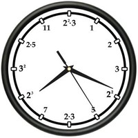 PRIMES Wall clock numbers math teacher gift