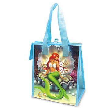 """Island Heritage Mermaids Pearl/Coral"" Insulated Cooler Bag, Small"