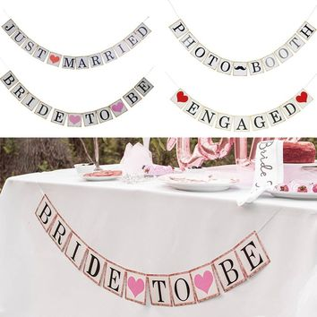 PHOTO BOOTH Wedding Bunting Banners Marriage Party Photography Background Outdoor Interior Decor