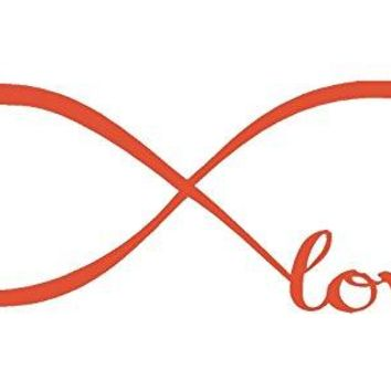 Orange 10'' X 28'' Wall Stickers, Franterd Bedroom Decor Infinity Symbol Word Love Vinyl Art Decal