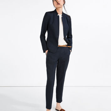 LINEN TROUSERS WITH BELT - Smart-TROUSERS-WOMAN | ZARA United Kingdom