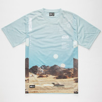 Lrg X Star Wars Episode 4 + 5 Mens T-Shirt Desert  In Sizes
