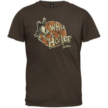 PEAPGQ9 Dr. Seuss - Who Holler T-Shirt