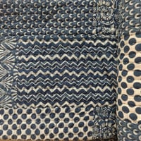 Queen Size Handmade Quilt, Indigo Color Cotton Patchwork Kantha Quilt, Hand Block Print Fabric, Reversible Indian Quilt with cotton Batting