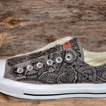 paisley floral converse all stars adult size