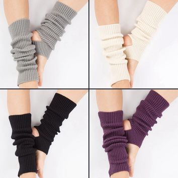 Woman Yoga Socks Gym Fitness Dancing Female Daily Wear Exercising Keep Warm Latin Dance Long Section Knitting Walking