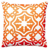 Athos 20x20 Outdoor Pillow, Orange, Decorative Pillows