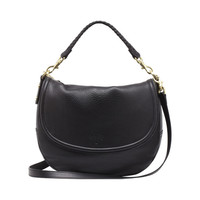 Effie Satchel in Black Spongy Pebbled | Women's Bags | Mulberry