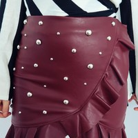 Out Like That Skirt: Maroon