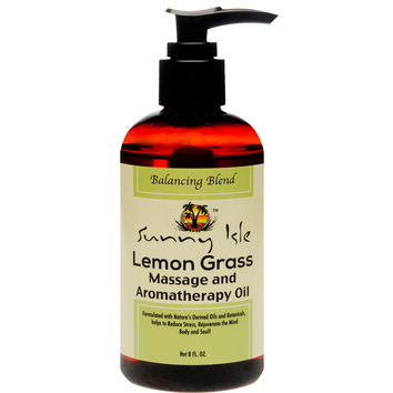 Sunny Isle Jamaican Black Castor & Lemon Grass Massage and Aromatherapy Oil - Balancing Blend 8oz