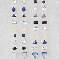 AEO Geo Colored Stones 18-Pack , Mixed Metal