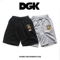 TOP High Quality 2017 New DGK Shorts men Summer Style DGK Drawstring Shorts Hip-Hop skateboard Streetwear DGK Tiger head Shorts