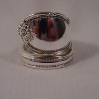 Spoon Ring Size 10 Remembrance Pattern Wrapped by SpoonRingsPlus