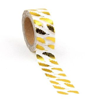 Gold Foil 10m Paper Tape For Home Decoration