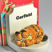Garfield and Odie Vintage Super Cute Bookends