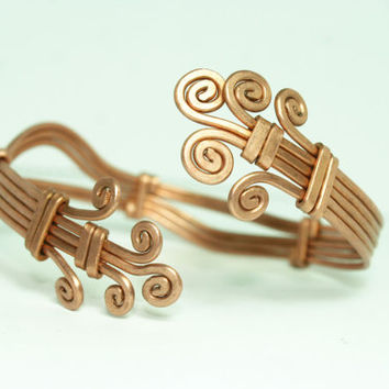 copper cuff adjustable bracelet  // armband // wrist // anniversary gift // summer // hippie // ancient // raw // hilling // mothers gift