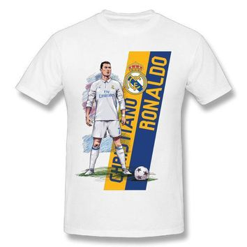 CREYLD1 Cool Man Christiano Ronaldo Real Madrid T Shirt CR 7 Fashion World Cup Streetwear T Shirt Custom Man's Tees Plus Size Camiseta