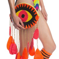 ORANGE 'CRYING EYE' CLUTCH