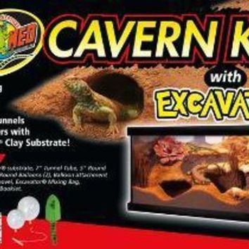 DCCKU7Q Zoo Med Cavern Kit with Excavator Substrate 12#