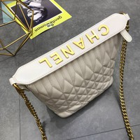 HCXX 19July 024 Single shoulder diagonal bag fashion diagonal letter leather handbag high-capacity soft leather lady bag Bucket Bag white