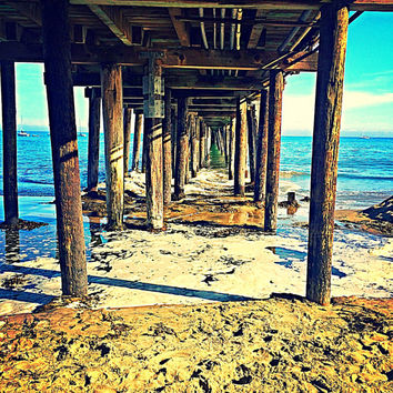 Under The Pier Poster - Santa Cruz Beach Matte Art Print