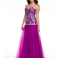 PRIMA Glitz GZ1501 Sequin and Tulle Prom or Homecoming Dress