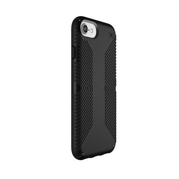 ONETOW Speck Products Presidio Grip Case for iPhone 8 (Also Fits 7/6S/6), Black/Black