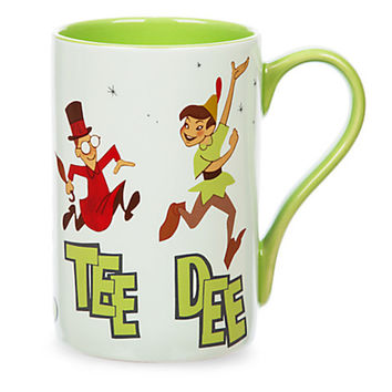 disney store peter pan record cover ceramic coffee mug new with box