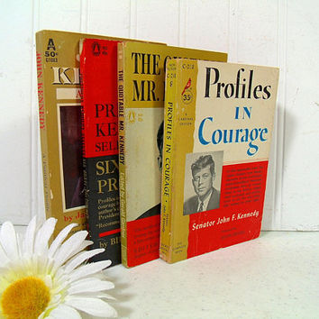 Profiles In Courage; The Quotable Mr. Kennedy; President Kennedy Selects Six Brave Presidents; John Kennedy A Political Profile 4 Books Set