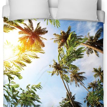 Palm Trees Duvet Cover