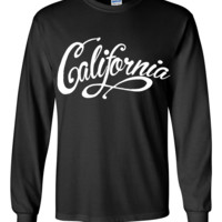 California Beach Script Long Sleeve Shirt