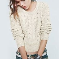 Free People Cabletown Pullover at Free People Clothing Boutique