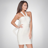 Women's Fashion Backless Slim Stylish Club Ball Gown Bandages Dress [4919880580]