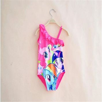 Hot Selling Children's Beach My Little Beach Dress Little Pony My Beach Clothes In The Water Girls Kids Beach Clothing Sleeveles