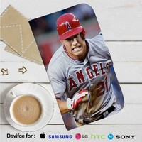 Mike Trout Los Angeles Angels Baseball Run Leather Wallet iPhone 4/4S 5S/C 6/6S Plus 7| Samsung Galaxy S4 S5 S6 S7 NOTE 3 4 5| LG G2 G3 G4| MOTOROLA MOTO X X2 NEXUS 6| SONY Z3 Z4 MINI| HTC ONE X M7 M8 M9 CASE