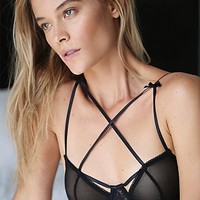 SKIVVIES by For Love & Lemons Womens Cross Your Heart Underwire Bra