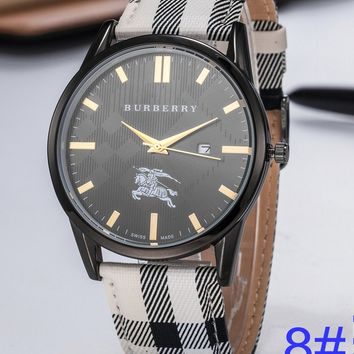 BURBERRY Watch Women's Men Classic Plaid print Watches B-PS-XSDZBSH Black