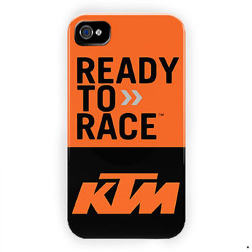 Ktm Motard Motorcycles Supermoto For iPhone 4 / 4S Case