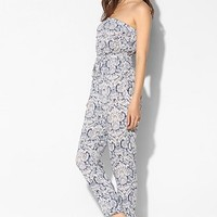 Staring At Stars Boho-Print Strapless Jumpsuit - Urban Outfitters